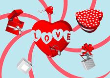 3D Postcard - LOVE Lenticular Animated Greeting Card