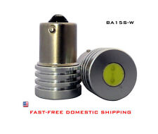 LED Car Bulbs Socket: BA15S - BA15D 1-Pair White 1W High Output BP89