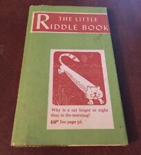 THE LITTLE RIDDLE BOOK 1st Edition First Printing Henry R Martin HCDJ 1954