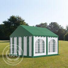 4x4m PVC Partyzelt Bierzelt Zelt Gartenzelt Festzelt Pavillon grün-weiß grünes D