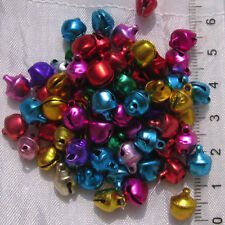 50 BRELOQUES PERLES CLOCHETTES GRELOTS METAL MULTICOLORE 9x7mm charms *B185