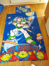 Toy Story 2 Buzz Lightyear Duvet Cover Pillow Case Set Single Vintage Disney