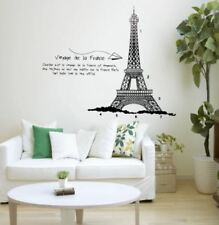 DIY Eiffel Tower Wall Stickers Home Decorating Photo (black)