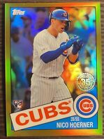 2020 Topps Chrome Nico Hoerner Gold Refractor 1985 #/50 Cubs RC Rookie PSA 10?