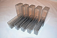 (5) 243 308 7.62x39 250 6mm 30 30 300 BERRYS SLIP TOP AMMO BOX 20 ROUND (smoke)