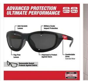 Milwaukee Advanced Ultimate Performance Polarized 48-73-2045 Safety Glasses NEW