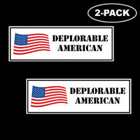TRUMP 2020 Deplorable American Political Bumper Sticker Decal Window Flag MAGA