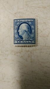Rare Unused George Washington Blue 5 Cent Stamp 1917-19 MNHVF Very Fine