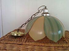 Modern Hanging Swag Lamp Tulip Plastic Petal Pendant Light Mid Century Vintage