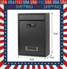 Wall Mounted Mailboxes With Rust Proof Cover Outdoor Combination Locking