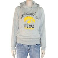Victoria's Secret Womens Hoodie Jacket Size Small Gray Iowa Hawkeyes
