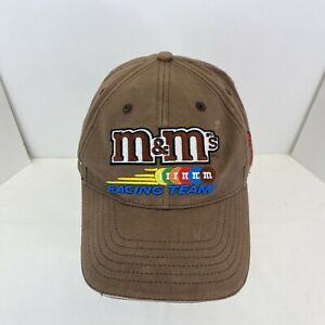 M&M's NASCAR Robert Yates Racing team brown 100% cotton adjustable hat cap