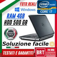 """PC NOTEBOOK PORTATILE DELL E6520 15.6"""" CPU i7-2760QM 4GB RAM 500GB NVIDIA WIN 10"""