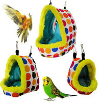 Bird Parrot Warm Hammock Cage Parakeet Budgie Colorful Hut Tent Bed Hanging Cave
