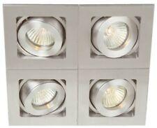 2 x Rasmi RAS-DIL024 GU10 DEL réglable cieling monté Spot Lumières Aluminium