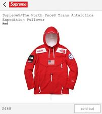 Supreme X North Face SS17 Trans Antarctica Expedition Pullover Red Size Medium