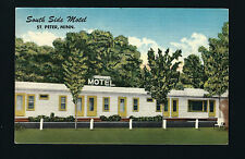 St Peter Minnesota Mn 1957 Linen Style Pc, South Side Motel, Tvs in Rooms!