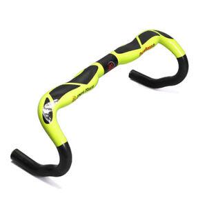 3k Bicycle Handlebar Full Carbon Fiber Glossy Bent Handlebar 31.8*400/420/440mm