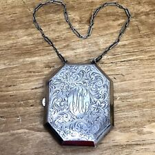 Chatelaine Dance Purse Edwardian Sterling Silver 73g Antique VTG Compact