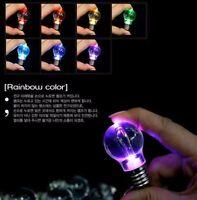 10X Mini Creative Colorful LED Flash Light Lamp Bulb Torch Keychain Key Ring Lot
