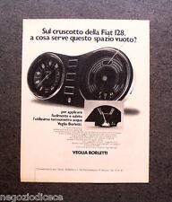 O908 - Advertising Pubblicità -1971- VEGLIA BORLETTI , CRUSCOTTO FIAT 128