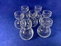 Poached egg Holders or OIL or Tea Candle Clear Glass Holder Set Of 6 Unique c315