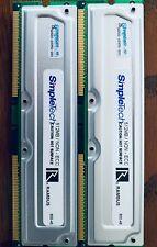 SIMPLETECH 1GB (2 x 512MB) RD 800-45ns RIMM 184-Pin Non-ECC RDRAM Rambus Memory