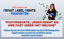 Geld verdienen mit PLR-Produkten - verschiedene Lizenzarten
