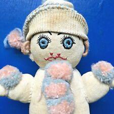 Antique Vtg Sock Folk Art Doll Primitive Handmade Sock Rag Doll Army and Navy