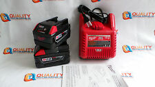 New (2) Milwaukee 48-11-2830 M28 Red Li-Ion 28V Battery & (1) Charger 48-59-2819