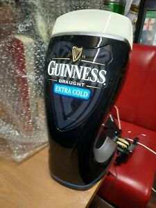 NEW Guinness Extra Cold Draught Beer Illuminating Bar Light Font Head