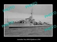 OLD 8x6 HISTORIC AUSTRALIAN NAVY PHOTO OF THE HMAS QUIBERON SHIP c1950