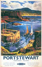 Portstewart Northern Ireland Travel Poster Wall Art Print 61 x 38 cm