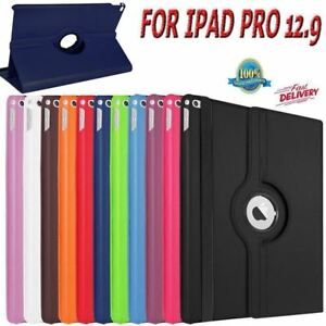 """For Apple iPad Pro 12.9"""" (2017) New Leather 360 Rotating Smart Stand Case Cover"""