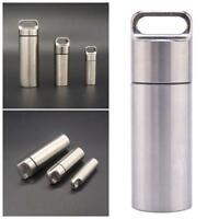 EDC Outdoor Survival Waterproof Capsule Seal Bottle Case Container Pill Box Tool