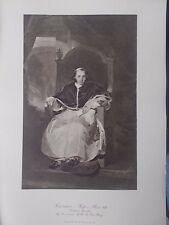 VINTAGE 1927 PRINT POPE PIUS VII  By THOMAS LAWRENCE