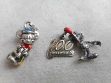 Mickey Mouse charms - 1 100th anniversary Lot of 2 Disney 925 sterling & enamel