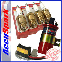 Ford Pinto Stealth Electronic ignition kit + Plugs + Red Sports coil  for Bosch