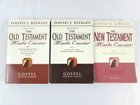 Old & New Testament Made Easier by David J Ridges 3 Vol PB Set Acceptable Cond!!