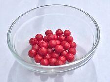BAKELITE BEADS SALE!  35 Bakelite Red 9mm Beads W/1/2 Holes. Great for Cherries!