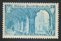 France 1951 MNH Mi 906 Sc 649 Saint Wandrille Abbey **