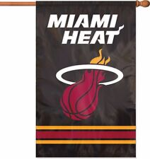 """New listing Miami Heat Nba Applique Banner Flag 44"""" x 28"""" - New in Package"""