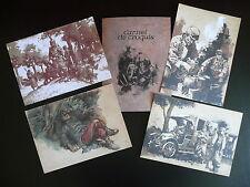 Carnet de croquis 4 dessins (ex libris) 14-18 - Corbeyran et Le Roux ( BD )
