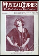 1919 Frieda Hempel photo Musical Courier framing cover