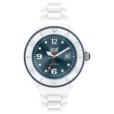 Ice Watch Unisex SI.WJ.U.S.11 Blue Dial Ice White Silicone Strap Quartz Watch
