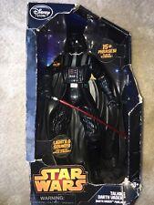 "New Rare Disney Store Star Wars Darth Vader Large 14.5"" Talking Action Figure"