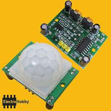 Sensor de movimiento PIR HC-SR501 Infrarrojos con lente Fresnel para Arduino
