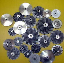 LARGE ASSORT.10 pcs Used Turbo Compressor Wheels Jet?? Hobby? Ornaments?