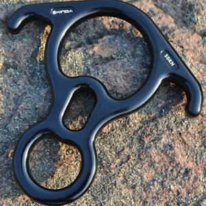 50KN Figure 8 Ring Rope Descender Rock Climbing Rescue Rappelling Equipment USA