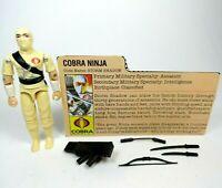 Vintage GI Joe Cobra 1984 Storm Shadow Figure Original Lot
